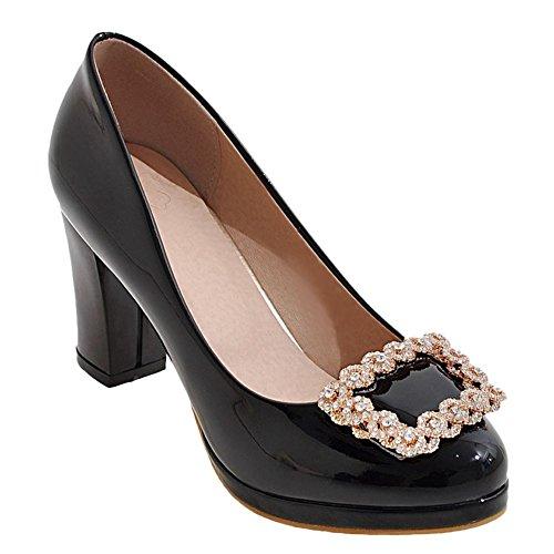 Misssasa Zapatos De Mujer Con Tacón Alto Elegante Y Casual Negro