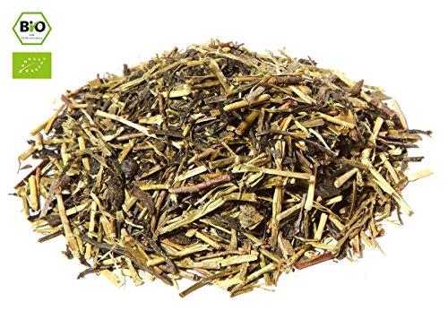 Japanischer Grüner Tee Kukicha BIO, Qualität Premium. 100 g, lose, nicht aromatisiert. Aus kleinem Tee-Garten Präfektur Uji/Kyoto. Sehr gut verträglich, ein herrlicher Abend-Tee. Direkt aus Japan