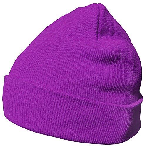 DonDon Wintermütze Mütze warm klassisches Design modern und weich lila