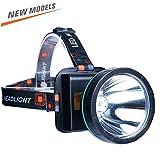 ALFLASH USB Rechargeable LED Tête Lampe Frontale Super Bright Phare Imperméable Tête lumière Sport en Plein Air Lampe de Poche pour Randonnée Camping Chasse Escalade Vélo Pêche À L'extérieur Lumière