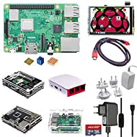 Eruditter Raspberry Pi 3 Modell B + (B Plus) Quad 1,4 GHz WiFi Bluetooth Starter Advanced Kit