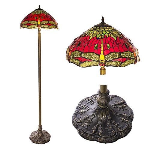 Stehlampe im Tiffany Style, Tiff107, Stehlampe Libelle , Dekorationslampe, Tiffany Style, Glaslampe, Leuchte ,Tischlampe, Stehleuchte, Stehlampe, Leuchte Lampe