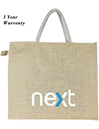 NEXT Jute Bag For Grocery (Pack Of 2) Size 20*18*8 Inches