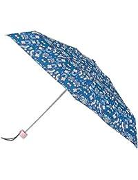 totes Mini Round Folk Birds Print Umbrella (5 Section)