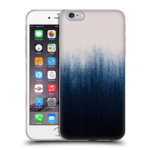 Offizielle Caitlin Workman Punktiert Muster Soft Gel Hülle für Apple iPhone 6 / 6s Jean Ombre