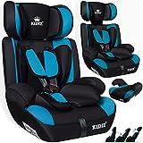 KIDIS® Autokindersitz Kinderautositz Sportsline Gruppe 1+2+3 | 9-36 kg Autositz Kindersitz | Stabil und Sicher | Farbe Hellblau