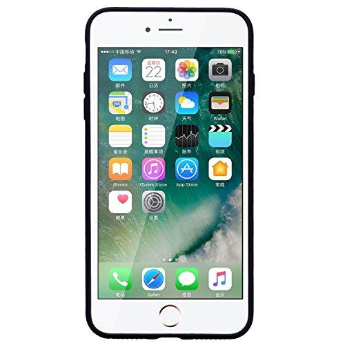 HB-Int Coque iPhone 6 / iPhone 6S Silicone Souple Bling Bling Motif Licorne Flexible Ultra Mince Etui de Protection Antichoc Léger Housse Soft TPU Case Cover pour iPhone 6 / 6S - Transparente Noir
