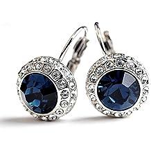 Princesa Kate Middleton mismo boda de color azul cristal austríaco Element Drop Juego de pendientes de Swarovski