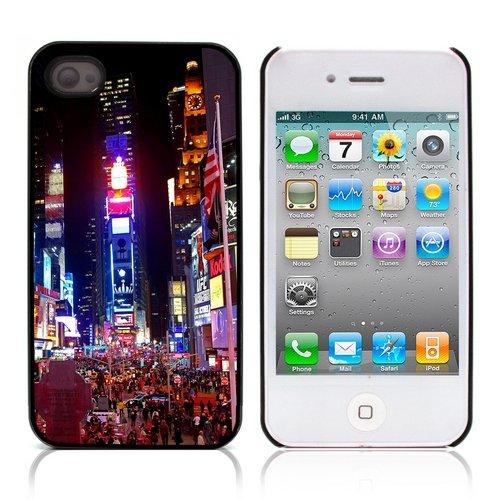 Graphic4You New York City Tilt Shift Postkarte Ansichtskarte Design Harte Hülle Case Tasche Schutzhülle für Apple iPhone 4 und 4S Design #1