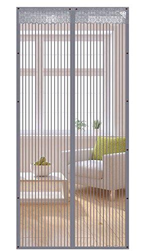 Liveinu zanzariera magnetica per porte finestre tenda zanzariera con magneti rete anti zanzare zanzariera grigio 100x210cm