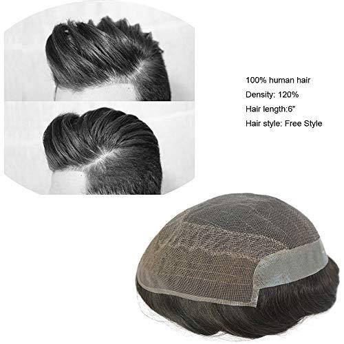 fec8f0c5889d Hairnotion Französisches Spitze Menschenhaar Haarersatz System mit PU auf  Zurück in Schwarzer Farbe   1B der