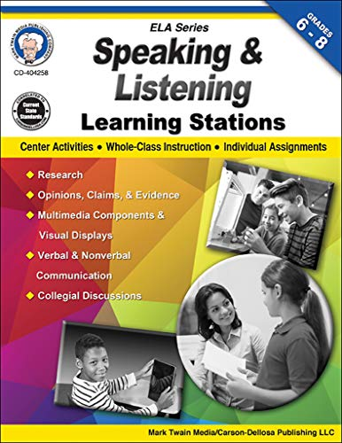 Speaking and Listening Learning Stations, Grades 6-8