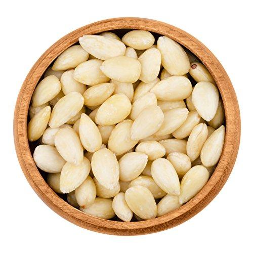 Mandeln blanchiert geschält   Mandelkerne blanchiert geschält   Australische Mandeln   Nüsse   Frischebeutel   ganz   ungesalzen   Qualitätsware   100% Natural   ohne Konservierungsstoff   (500g) (Rohe Bio Mandeln)