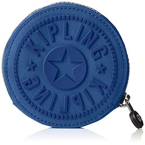Kipling Aeryn, Porte-Monnaie Femme, Bleu (REF33V Jazzy Blue), 10x10x2 cm