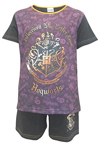 Get Wivvit Girls Pyjamas Official Harry Potter Letter from Hogwarts Shorty Sizes from 5 to 12 Years