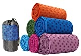 Non-Slip Yoga Towel Mat with Bag, 63 x 180cm, Available in Four Colours