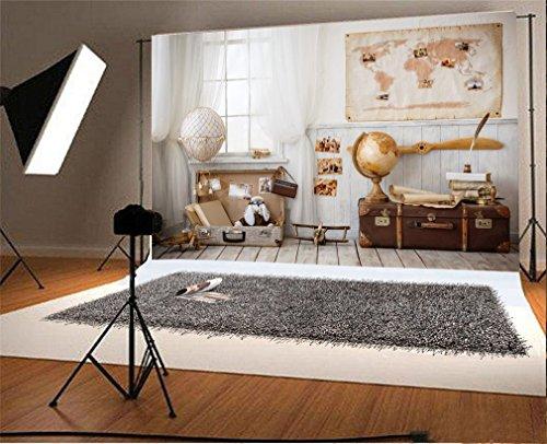 YongFoto 2,2x1,5m Fondos Fotograficos Cortina Blanca