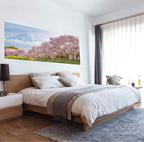 Zlywj giappone sakura bed testiera paesaggio murales sticker camera da letto carta da parati decalcomanie murale art poster carta da parati 3d 45x180cmx2pcs