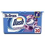 Dash 30 Pods 3in1 Lavanda Detersivo Lavatrice in Monodosi, Formato da 30 Capsule