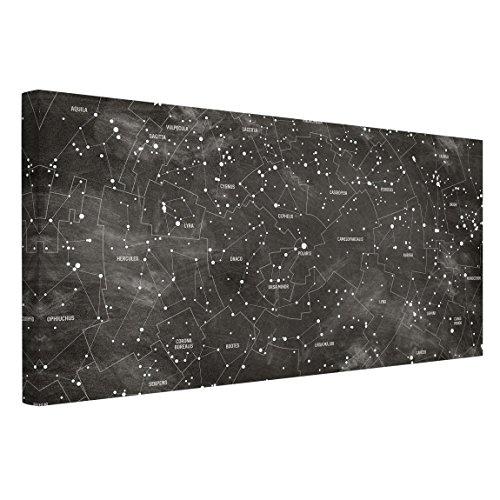 Bilderwelten Impression sur toile - Constellation map panel optics - Paysage 1:2, peinture murale revetement mural cuisine dosseret de cuisine impression sur verre fond de cuisine, Dimension: 30cm x 60cm