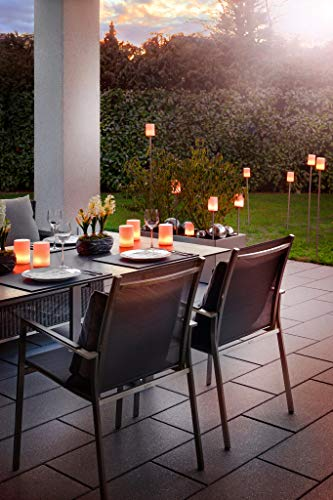 Sompex lámpara Fiero | batería Recargable LED de jardín, Impermeable IP65,  Acero Inoxidable, 2000 mAh