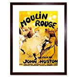 Wee Blue Coo Film Moulin Rouge Cancan Burlesque Paris Huston Ferrer Gabor Art Lámina Enmarcada 12 x 16 Pulgadas