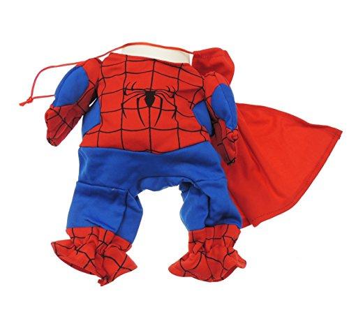Glamour Girlz Spiderman-Outfit mit Cape, für Katzen und kleine Hunde geeignet (Spider-man-hund-tag)
