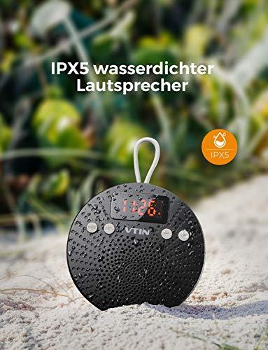 VicTsing Bluetooth Lautsprecher, Tragbarer wasserdichter Wireless Lautsprecher – Mit Bluetooth - 3