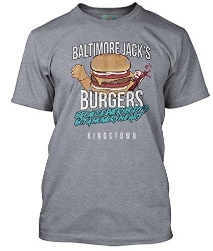 Bathroom Wall Bruce Springsteen Inspired Hungry Heart Baltimore Jacks, Herren T-Shirt, Large, Heather Grey
