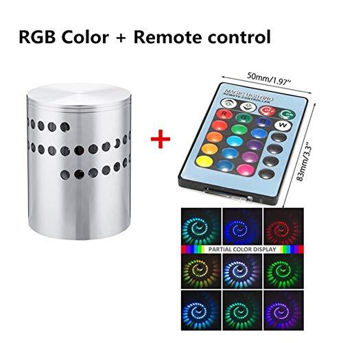 YOZOOE Wandleuchte Mit LED Wand Lichteffekt Mit RGB Spiralloch Mit Fernbedienung Dekoration Kinderzimmer Nachtlichter (Farbe : Colorful Belt Remote Control) -
