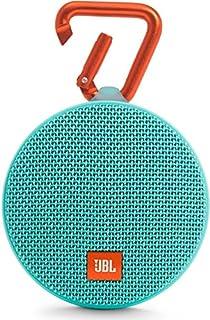 JBL Clip 2 - Altavoz Bluetooth Portátil Resistencia al Agua con Batería Recargable, Sistema Manos Libres y Cable de Audio de 3,5mm Integrado - Turquesa (B01FQVKV9M)   Amazon Products