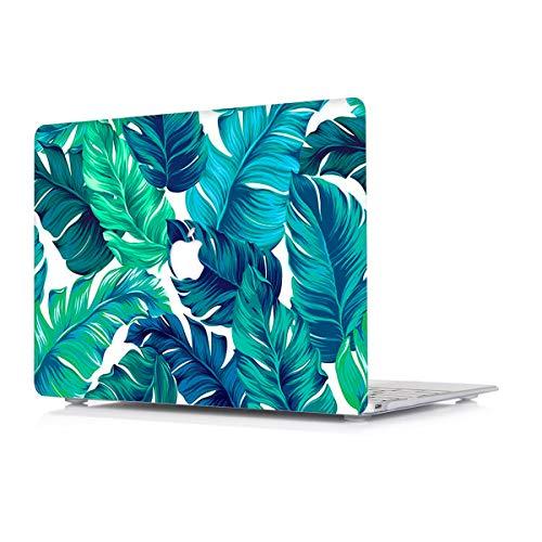 L2W Funda Apple MacBook Air 13,3 Pulgadas Modelo A1466/A1369 Portátiles Accesorios Plástico Impresión del Patrón Rígida Cover Protección Carcasa, Hoja de Palma