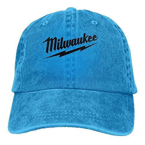 Power Tool Logo Milwaukee Unisex Gewaschene Baseballmütze Einstellbar Cowboy Cotton Ball Hat Black