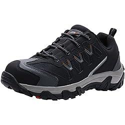 LARNMERN Zapatos de Seguridad para Hombre LM-1611 Zapatillas de Seguridad Trabajo Industrial y Deportiva con Puntera de Acero, Talla 42 EU, Gris Oscuro