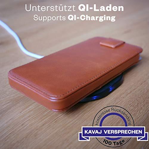 KAVAJ Custodia iPhone 8/7 / 6S / 6 Plus in Pelle Miami Vera Pelle