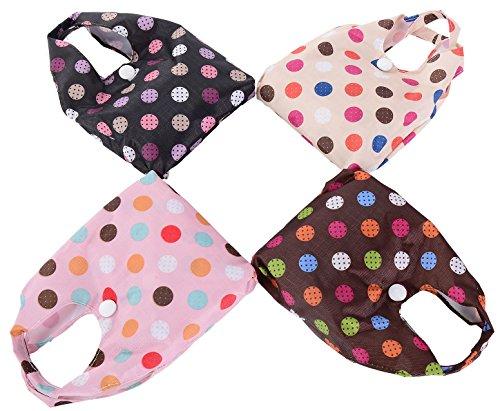 Big Handbag Shop pieghevole riutilizzabile Eco pianeta Friendly Compatto Shopping Bags Polka Dot - Beige