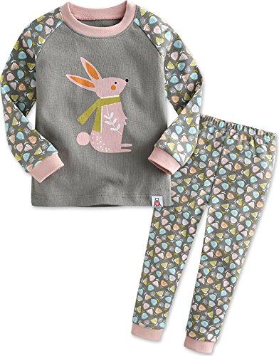 Maedchen Nachtwaesche Schlafanzug-Top Bottom 2 Stuck Set Rabbit Frend L (Nachtwäsche Für Mädchen)