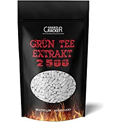 560 Kapseln - Grün Tee Extrakt, 2500mg Hochdosiert / Tagesdosis, Grüner Tee / Green Tea, Abnehmen, Fettverbrennung, Appetithemmer, Appetitzügler