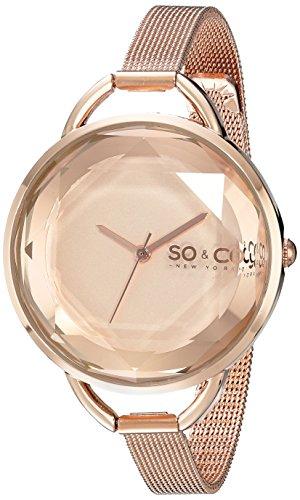 SO&CO New York Soho Damen-Armbanduhr Analog Quarz Edelstahl - 5104.4