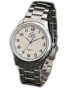 ufengke® schöne stahl handgelenk armbanduhren,retro leuchtende wasserdichte armbanduhren für herren-weiß