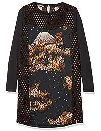 Scotch & Soda Long Sleeve Jersey Dress with Woven Front Panels, Vestido para Niñas