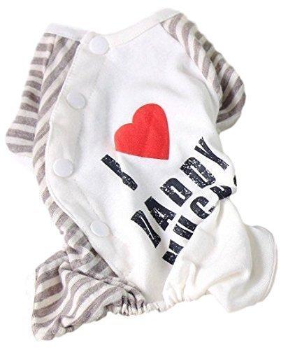 Fancy Me Haustier Hund Katze I Love Pyjama Pyjamas Nachtwäsche Schlafanzüge Mode Kleidung Kleidung Kostüm Kleid Outfit XS-XL - Daddy, Extra - Daddy Anzug Kostüm