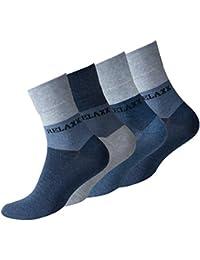 """8 Paar Herren Kurzsocken """"RELAXX"""" Quarter Socks ohne Gummibund von VCA® (Jeansblue)"""