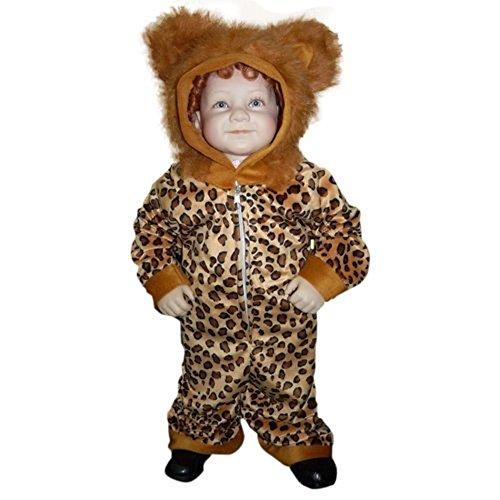 Löwen-Kostüm, J51 Gr. 98-104, für Kinder, Löwe Tier-Kostüme für Fasching Karneval Fasnacht, Kleinkinder-Karnevalskostüme, Kinder-Faschingskostüme, Geburtstags-Geschenk (Kuschelige Löwen Mädchen Kostüm)