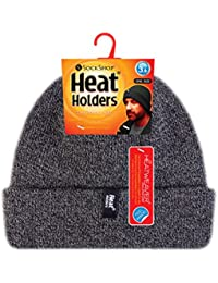 Heat Holders - Homme 3.6 tog beanie chapeau thermique polaire chaud hiver dans gris, bleu et noir