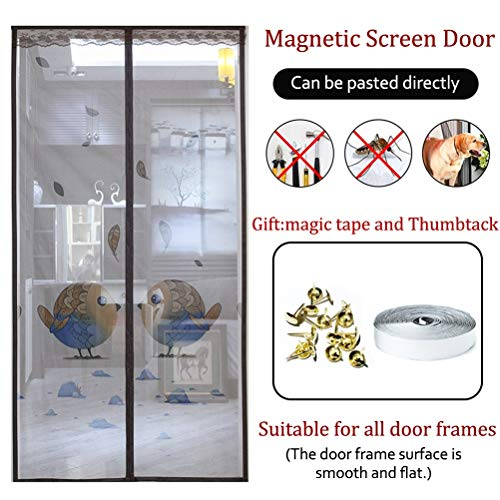 Magnet fliegengitter Tür mit hoher Dichte Anti-Moskito-Mesh-Vorhang automatisch geschlossen Keine Lücke, Lassen Sie frische Luft herein,2,210 * 90cm -