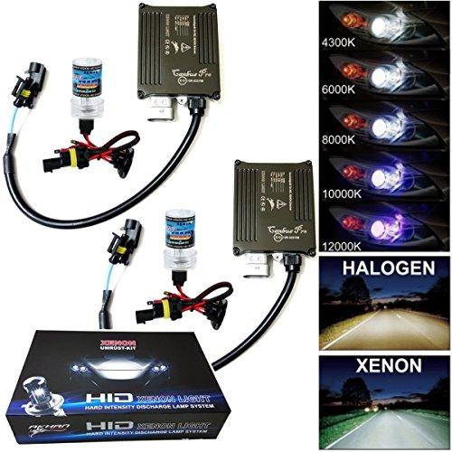 Akhan Digital 9-32V 35W CANBUS Xenon Kit Nachrüstsatz H4 6000 Kelvin inkl. HID Vorschaltgerät, Xenon Brenner Lampe und Montage Material ohne Fehlermeldung und ohne Flackern