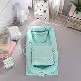 myun Tragbares Krippbett Abnehmbares Babyisolationsbett Neugeborenes Bionisches Bett, 90 * 50 * 15cm, Steppdeckengröße: 80 * 90CM,2