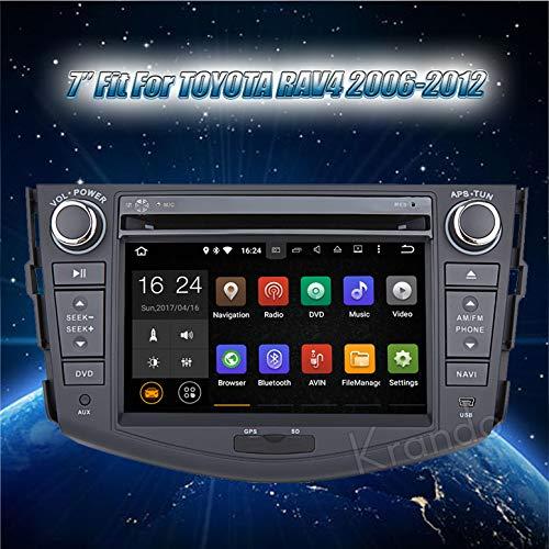 Autoradio Krando Android 7.1 7 Zoll für Toyota rav4 2006-2012 Navigation DVD Multimedia-System Wifi Playstore DAB+ 2G (Rav4 System Navigation Toyota)