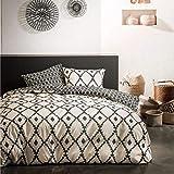 J&K Markets Bettbezug 240 x 260 cm, 2 Kissenbezüge 100% Baumwolle, 57 Fäden, sehr dicht gewebt